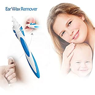 Ear Wax Remover, Ear Cleaner Earwax Removal Tool Smart Swab Spiral Cleaner Kit with 16 Soft Silicone Replacement Heads