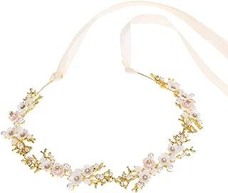 Pearl Flower Hairband Princess Crystal Rhinestone Tiara Bridal Headband Headpiece Wedding Hair Accessories Jewelry