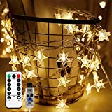 Briignite Star String Lights 100 Led 34ft Remote Control, Led...