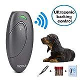 Yofuly Hund Anti Barking Device, Ultraschall-Hund Barking Control Devices Ultraschall-Hund Bark Deterrent 2 in 1 Hundetraining Aid Kontrollbereich von 16,4 Ft Haltegriff Hund Bark Trainer