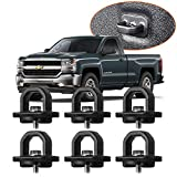 6pcs Tie Down Anchors Truck Bed Side Wall Rings for 07-18 Chevy Silverdo GMC Sierra 15-18 Chevy Colorado GMC Canyon Trucks Cargo Pickup