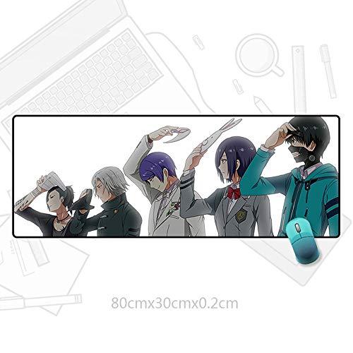 KaiWenLi Tokyo Ghoul-Protagonist Foto mit weißen Hintergrund/Anime-Charakter Cartoon-Mausunterlage/Maxi-Version/Wasserdicht, Anti-Rutsch, Anti-schmutzig/E-Sport, Spielen, Büro