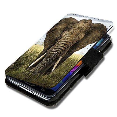 Book Style Flip Handy Tasche Hülle Schutz Hülle Schale Motiv Etui für Wiko Lenny 2 - Flip 1A38 Design3