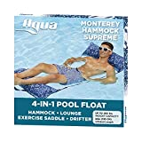 Aqua 4-in-1 Monterey Hammock XL (Longer/Wider) Resort Quality Soft Fabric Inflatable Pool Chair, Multi-Purpose Adult...