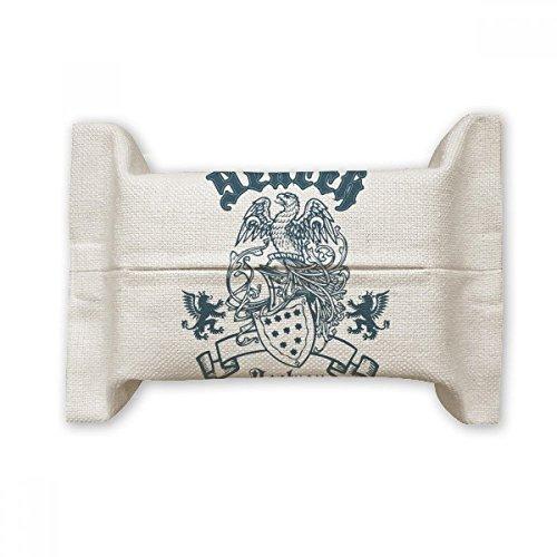 DIYthinker Middeleeuwse Ridders Van Europa Vernietigen Eagle Embleem Katoen Linnen Tissue Papier Cover Houder Opslag Container Gift