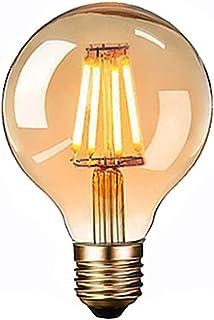 Edison Vintage Glühbirne, Massway LED Vintage Glühbirne E27 G80 4W Warmweiss Antike..