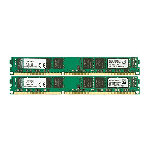 Kingston KVR13N9K2/16 Arbeitsspeicher 16GB (DDR3 Non-ECC CL9 DIMM Kit, 240-pin, 1,5V)