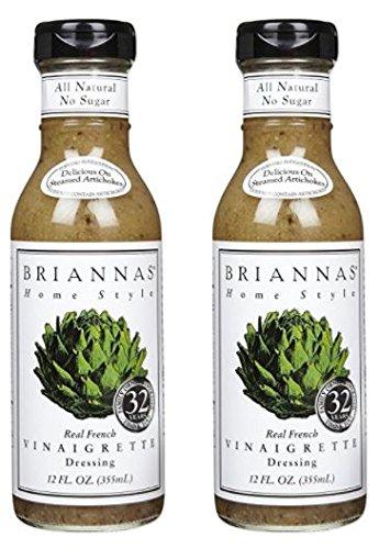 Briannas Real French Vinaigrette 12 oz (Pack of 2)