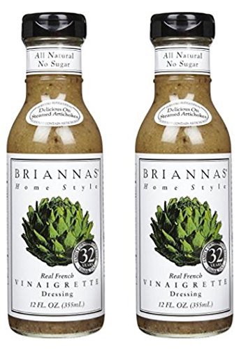 Briannas Real French Vinaigrette 12 oz (Pack of 2)