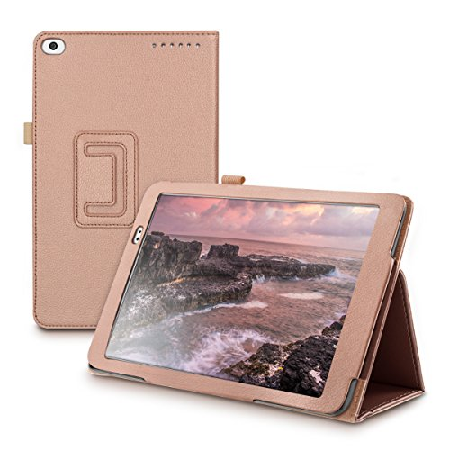 Huawei MediaPad T1 10 Hülle - Tablet Cover Case Schutzhülle für Huawei MediaPad T1 10 - Rosegold mit Ständer