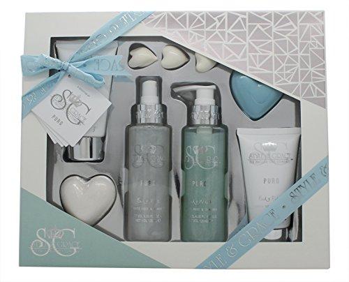 Style & Grace Puro Pure Bliss Bath & Body Geschenkset 120ml Duschgel + 100ml Body Lotion + 120ml Kö
