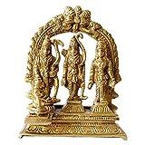 GURU JEE Brass Idol Ram Darbar Statue Lord Rama Laxman Sita Religious Gift Indian Art