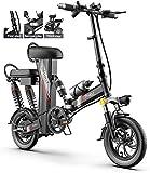 Bicicletas Eléctricas, Bicicletas for adultos plegable eléctrico híbrido Comfort reclinada Bicicletas, 12 pulgadas portátil 350W 3 Mode City de bicicletas Velocidad máxima 25 km / h, Estructura de ale