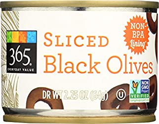 365 Everyday Value, Sliced Black Olives, 2.25 oz
