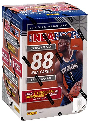 2019/20 Panini Hoops NBA Basketball BLASTER box (88 cards incl. ONE Memorabilia or Autograph card)