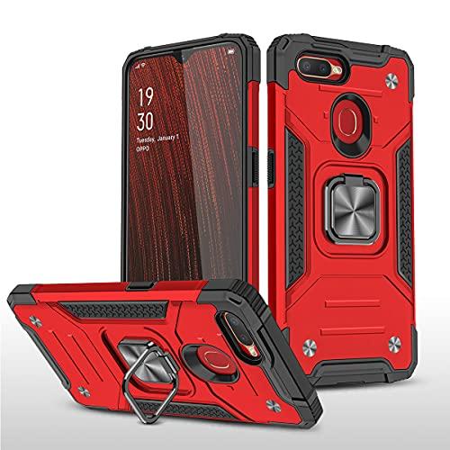Swdan Carcasa OPPO A5S Funda Silicona, Suave Armadura híbrida Robusta Bumper Case Anti-arañazosCaja para Funda OPPO A5S Smartphone con Soporte de Metal