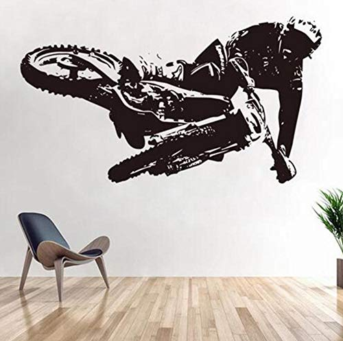 Mountain Bike Wall Stickers for Bedroom Kids Boys Room Wall Decals Home Living Room Decor Sticker Wallpaper Bike Mural 75x42cm C410