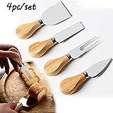 Herramientas de queso Cocina utensilios de cocina 4pcs Cheedse cortador/Set cuchillos Bard Conjunto de roble de madera de bambú de la manija Cuchillo de queso máquina de cortar Kit