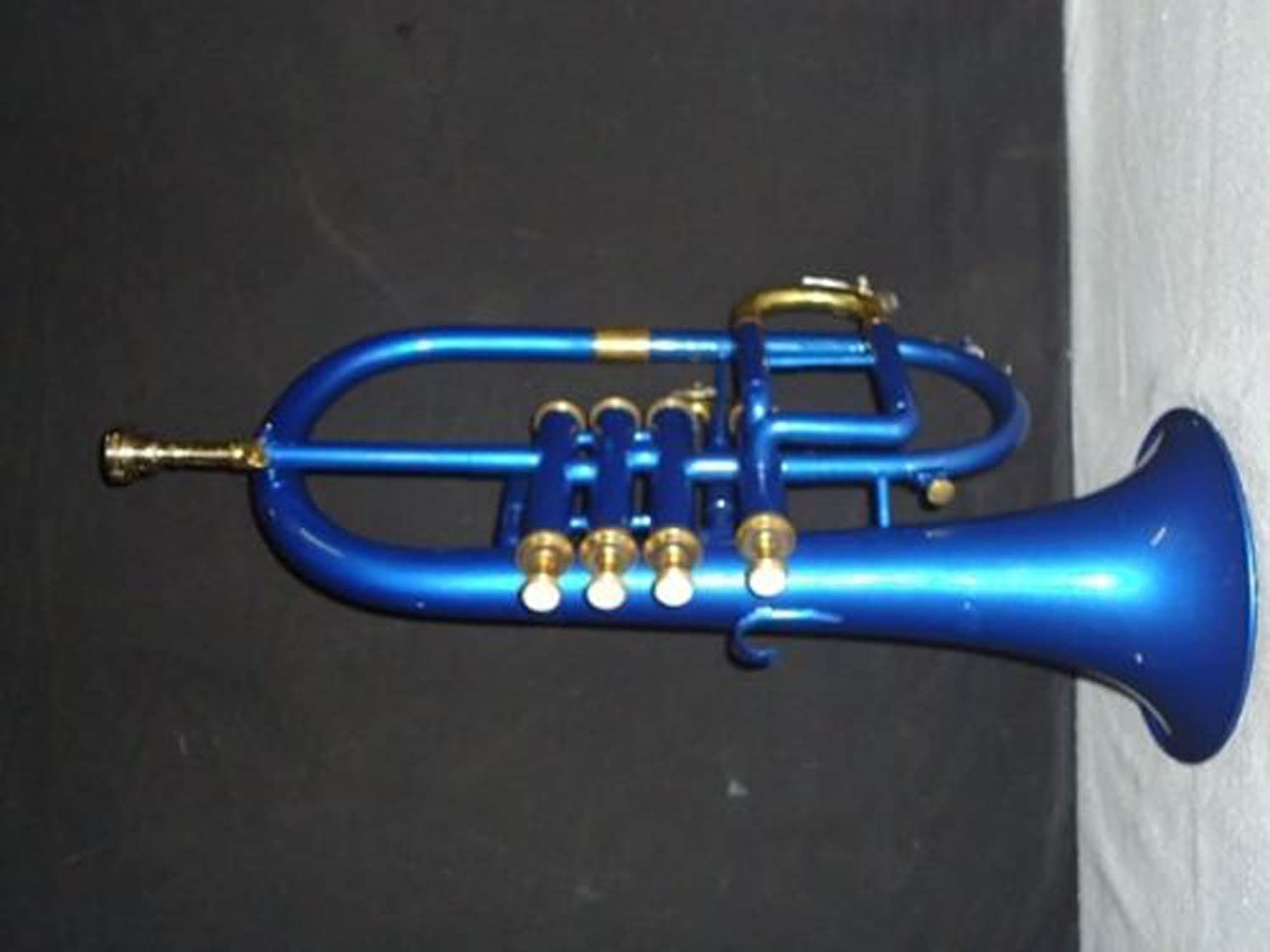 Bb Low Pitch Brass Musical Instrument Flugel Horn Brass Made for Intermediate Student with Cushioned Hard case
