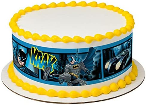 Whimsical Practiality Licensed Batman Birthday Designer Strips Edible Cake Side Toppers D7443 product image
