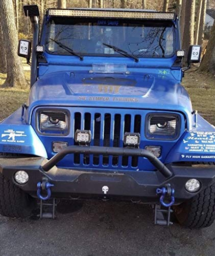 """FITS 1987-1996 FITS Jeep Jeep Wrangler YJ Angry Eyes Decal Sticker Fits 5X7"""" 6094 Headlight"""