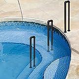 WYJJ Pasamanos de Escalera para el hogar Barandilla de jardín, barandilla de Piscina Antideslizante Juego de 3 Tubos galvanizados en Forma de U fácil de Instalar (Varios tamaños Opcionales)