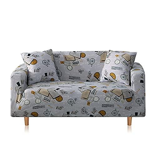 WXQY Sofabezug im nordischen Stil Baumwollstretch Wohnzimmersofabezug Sofatuch, L-förmiger Ecksesselbezug A1 3 Sitzer