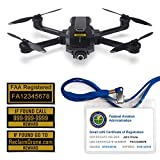 Yuneec Mantis Q - FAA Drone Labels (3 Sets of 3) + FAA UAS Registration ID Card for Hobbyist Pilots + Lanyard and ID Card Holder