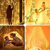 イルミネーションライト カーテンライト 300LED 3M*3M 屋内屋外使用可能 ガーデンライト IP67防水 8切替モード リモコン付き クリスマス/新年お祝い/結婚式/誕生日/パーティー/学園祭/庭/広場/街路樹装飾 USB式
