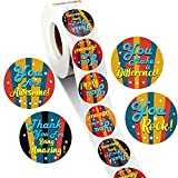 1000 Pieces Kudos Appreciation Stickers Positive Sayings Label Retro You are Awesome Thank You for Being Amazing You Make a Difference Labels for Gratitude Volunteers Nurses Teacher Business