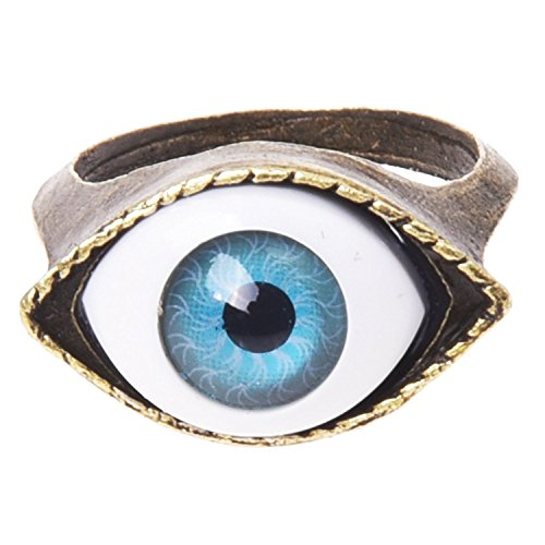TOOGOO anillo en forma del ojo de metal 17 mm diseno unico gotico