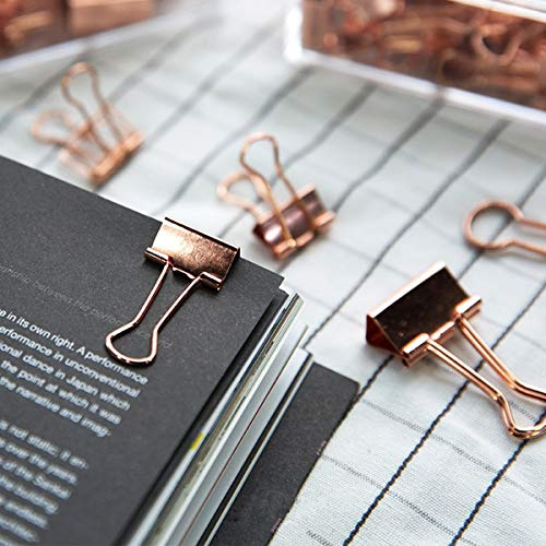 Rose Gold Desk Accessories Set - Transparent Rose Gold Acrylic Desktop Stapler with 1000 PCS Rose Gold Staples and 15 Pieces Blinder Clips for Home School Office Supplies Stationery Desk Accessory Photo #7
