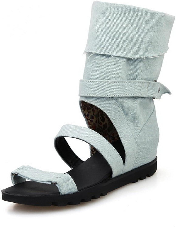 BalaMasa Womens Pull-On Open-Toe Fabric Sandals