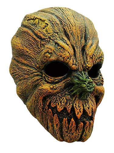 Halloween Kürbis Maske des Grauens aus Latex - Erwachsenen Horror Kostüm Vollmaske - ideal auch für Karneval, Motto- & Grusel-Party
