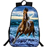 ANKOEE Sac de Cheval Cartable Sac Scolaire Animal Sac a Dos Cheval - Style 2