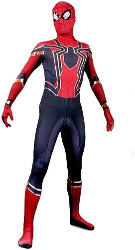 Morph33 Spiderhomme Cosplay Corps élastique Collants HalFaibleeen Stage Costume Accessoires de Costume Movie Prop ( Couleur   Noir , Taille   M )