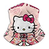 Passamontagna invernale in pile per uomo e donna, con motivo Hello Kitty, per scaldacollo e sciarpa invernale, per il freddo, antivento, invernale, moto e sci