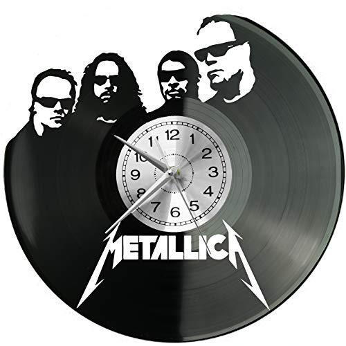 Metal Rock Band Wanduhr Uhr Vinyl Schallplatte Retro-Uhr groß Uhren Style Raum Home Dekorationen Tolles Geschenk Decor Raum Inspirierende Wand Vinyl Record Kovides Vinyl Home