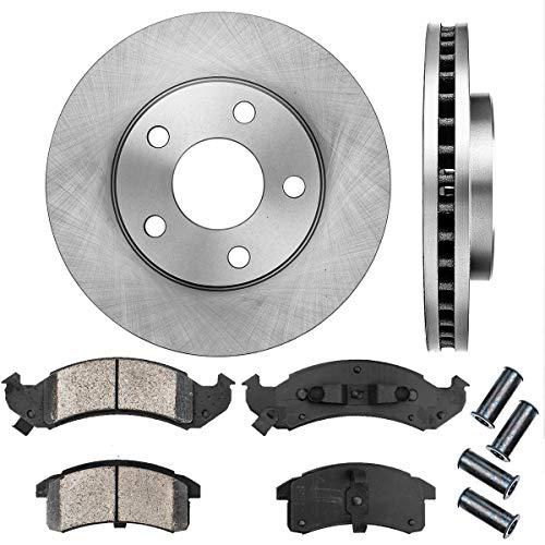 CRK11285 FRONT 278 mm Premium OE 5 Lug [2] Brake Disc Rotors + [4] Ceramic Brake Pads + Clips