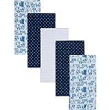 Gerber Boys Newborn Infant Baby Toddler Nursery 100% Cotton Flannel Receiving Swaddle Blanket, Dogs Blue, 5-Pack