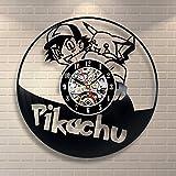 Pikachu Pokemon Anime Vintage Wedding Office Decor Vinyl Record Clock Party - Win a prize for feedback