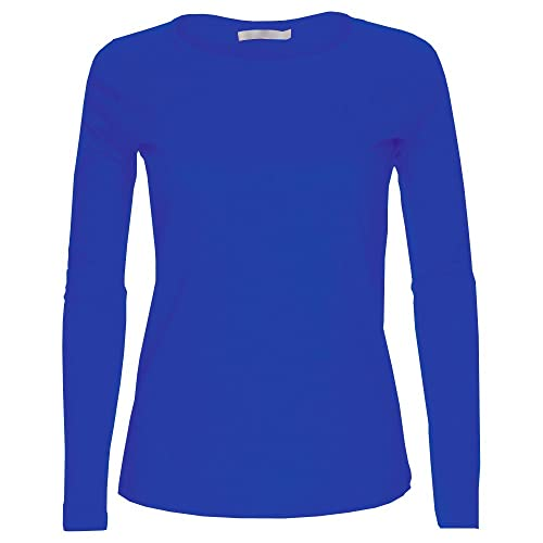 Boys T Shirt Size 8-10 Medium Top Long Sleeve Crew Neck School Clothes Navy Bl