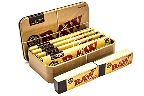 Tabaco, Cigarrillo Caja de Raw | 4 Papeles Smoking Extra Grande Classic | 2 Filtros de Raw
