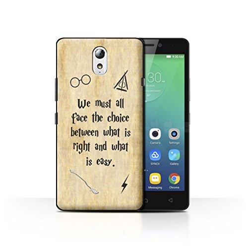Hülle Für Lenovo Vibe P1m Schule der Magie Film Zitate Right und Easy Design Transparent Ultra Dünn Klar Hart Schutz Handyhülle Hülle