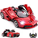 RASTAR Coche de juguete Ferrari con mando a distancia, 1:14 rojo Ferrari, coche con control remoto La Ferrari