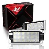 WinPower LED Luz de matrícula Trasera18 SMD Bombilla 6000K Xenon Blanco Sin errores para Laguna/Vel Stis/Megane/Master/Clio/Twingo/Kangoo/Espace etc, 2 Piezas