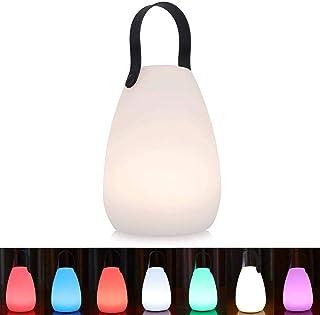 uuffoo Lampe de Table Lampe de Chevet Portative, LED étanche Rechargeable sans Fil Multicolore Dimmable Lampe de Jardin Ex...