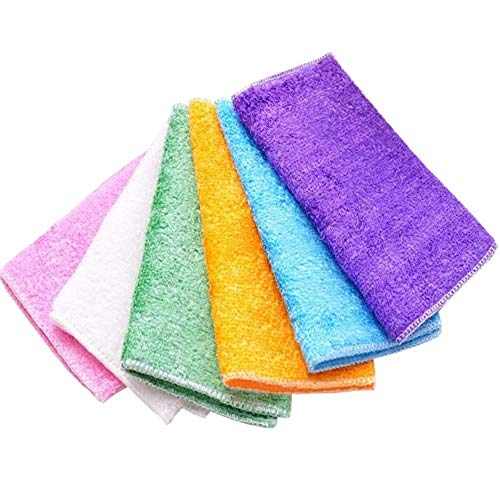 ZNX La Fibre de Gants de Toilette est Non Absorbant avec de l'huile, des Gants de Toilette en Tissu Non Pelucheux Le Nettoyage contaminé Dishcloth