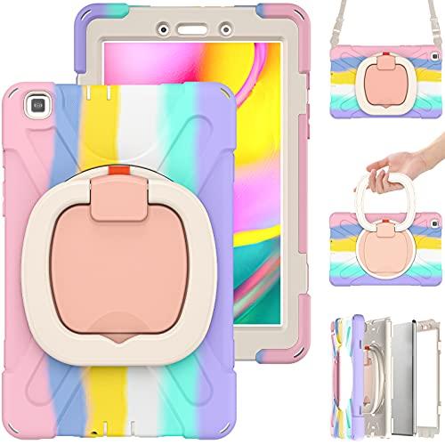 Funda para Samsung Galaxy Tab A 8.0' 2019 (Model: SM-T290/T295/T297), Funda Robusta Antichoque con Soporte y Correa de Mano y Bandolera,A4