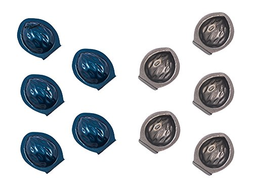 Eco Haus Living Mini Tart Pan 10 psc Set - 4cm Noce Moulds for Tartlets - Antiaderente Scanalato Tartlet Stampo - Tartlette Ideale per Quiche Biscotto Dessert Antipasto